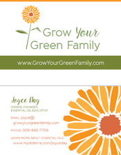 Grow Your Green Family business cards
