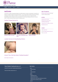 Pierce Pediatric Feeding Services website: homepage