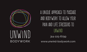 Unwind Bodyword business card